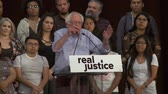 presidential candidate : SAD STATE OF AFFAIRS. Bernie Sanders comments on poor police training. June 2nd, 2018 at the Rally for Justice in downtown Los Angeles, California.