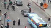 kosmici : Police Tail Occupy March. LAPD follow protesters for the Occupy Movement in downtown Los Angeles, California on May 1st, 2012. Wideo