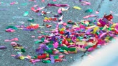 söprés : Confetti Aftermath. Some of the mess left on the street following the 2010 LA Lakers Championship parade on June 21st, 2010, Los Angeles, California.