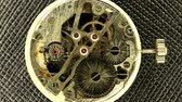 machinery : Complex movement of a modern wind-up watch, Full HD, timelapse Stock Footage