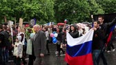 alay : DONETSK - MAY 9, 2015: 1st Victory Parade in Donetsk. Immortal regiment. May 9, 2015, Full HD