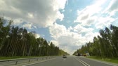 pradaria : Clouds over the road. The path from Kuyar village - Kundysh village, Mari El Republic, Russia, Full HD