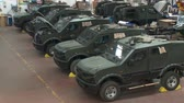 zırhlı : Israel, Circa 2011 - Armored vehicles manufacturing in a large factory Stok Video