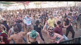 rave : KINERET, ISRAEL, April 6 2018- People dancing in a nature trance party