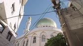 cami : Large islamic Mosque with golden turrets in an muslim city