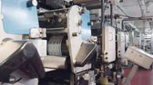 publicar : Large printing machine in a printing factory Stock Footage