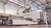 製鉄所 : Automated wood processing machine in a furniture manufacturing facility