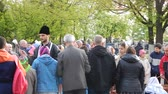 ucraniano : KIEV, UKRAINE - MAY 1, 2016. Easter celebration in the Ukrainian Orthodox Church
