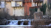 pireneusok : waterfalls of the river Sals and spa town of Renne Les Bains in Aude, France