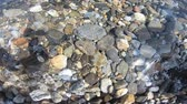 mediterranean sea : pebble background under the sea water Stock Footage