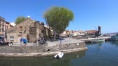 roques : Port of Collioure in Pyrenees orientales, Roussillon in southern of France