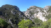 pirineus : Canyon of Galamus in Pyrenees orientales, Corbieres in southern of France Vídeos