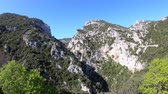 pyrenees : Canyon of Galamus in Pyrenees orientales, Corbieres in southern of France Stock Footage