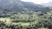 pirineus : aerial view of french countryside in Pyrenees, Aude in the southern of France Vídeos