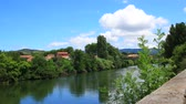 Time lapse of the city of Limoux and Aude river in Languedoc, France
