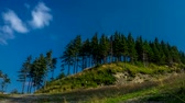 carpathians : Timelapse clouds over Beskids mountains.