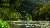 Summer timelapse of pieniny and dunajec river, Poland.