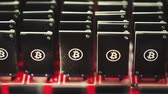 rendszer : Bitcoin mining USB devices on a large USB hub.
