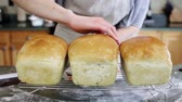 yeast : Young baker preparing artisan sourdough bread. Stock Footage