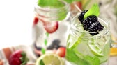 amoras : Infused water with fresh organic berries.