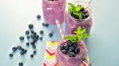 serinletme : Blueberry smoothie made with fresh organic blueberries and plain yogurt.