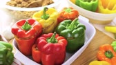 caloria : Low calorie stuffed peppers with ground turkey and white rice.