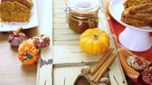 noz moscada : Homemade pumpkin butter made with organic pumpkins. Stock Footage