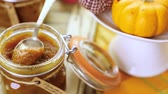 miniatura : Homemade pumpkin butter made with organic pumpkins. Stock Footage