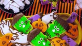 pečený : Variety of sweets prepared as Halloween treats.
