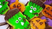 biscoitos : Variety of sweets prepared as Halloween treats.