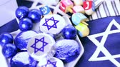 shin : Chocolates with Star of David for Hanukkah.