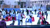 patim : Denver, Colorado-December 13, 2015: Outdoor ice skating rink at Skyline Park.