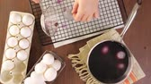 herbaceous : Dyeing Easter eggs with natural dye colors.