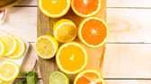 mix : Variety of citrus fruit including lemons, lines, grapefruits and oranges.