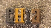 çiğ gıda : Healthy Chia seeds with chia letters close-up. Stok Video