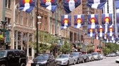 praça : Denver, Colorado, USA-June 20, 2016. Historical Larimer Square in the Summer.