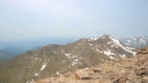 típico : Aerial view from the top of Mount Evans. Stock Footage