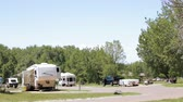 alergia : Denver, Colorado, USA-June 27, 2016. RV campground at Cherry Creek State Park.