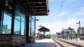 united states : Denver, Colorado, USA-July 20, 2016. View of the Orchard light rail station.
