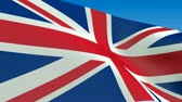 union : Seamless loop waving Great Britain flag. Alpha channel is included