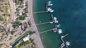 ancrage : Top view on the bay of Chiftlik town, Turkey.