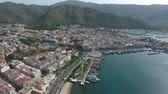 marmaris : Aerial footage of the city of Marmaris and Marina. Stock Footage