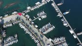 marmaris : Footage from the drone. Flying over the marina for sailing yachts in the Mediterranean sea. Stock Footage
