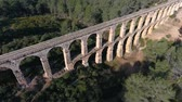 cantaria : Aerial view of the Roman aqueduct. Tarragona, Spain. Vídeos