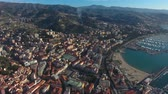 doca : Air view of the city of Sanremo, Italy.
