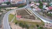 бастион : Aerial view of the old military fort in Tarragona, Spain.