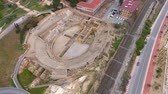 coliseu : Top view of the ruins of an ancient amphitheater. Tarragona, Spain.