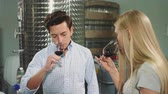 somelier : People degustating wine with sommelier.
