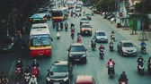opstopping : Congested Road In Hanoi, Busy Rush Hour, Infrastructure, Transportation, Vietnam