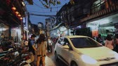 pivo : Everyday City Life With People And Traffic, Hanoi, Vietnam, Asia.